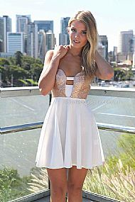 MARIAH DRESS , DRESSES, TOPS, BOTTOMS, JACKETS & JUMPERS, ACCESSORIES, SALE, PRE ORDER, NEW ARRIVALS, PLAYSUIT, COLOUR,,White,CUT OUT Austra...