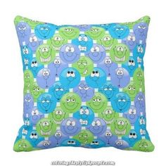 Emoji Design Funny Cute Faces Throw Pillow - decor gifts diy home & living cyo giftidea Birthday Presents For Teens, Teen Presents, Diy Gifts For Friends, Gifts For Kids, Emoji Coloring Pages, Emoji Design, Teen Christmas Gifts, Blue Throw Pillows, Cute Faces