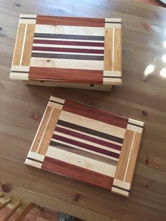 Hand made exotic wood cutting board by OCGWoodshop on Etsy