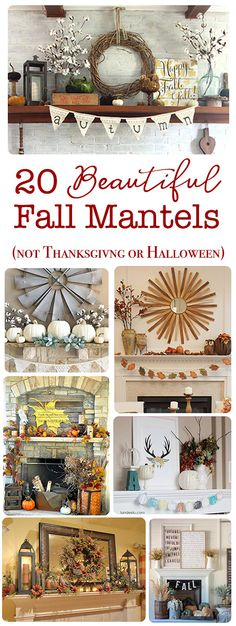 20 Beautiful autumn mantels for fall that are not thanksgiving or halloween themed. Get inspired to decorate your mantel ONE TIME and leave it up and leave it all the way until christmas Fall Home Decor, Autumn Home, Diy Home Decor, Room Decor, Fall Decor For Mantel, Autumn Mantel, Seasonal Decor, Autumn Decorating, Decorating On A Budget