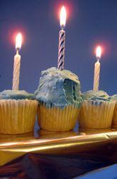 "Nothing says ""Happy #Hanukkah"" quite like a #cupcake #menorah!"