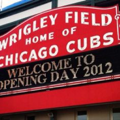 Opening Day for the Cubs Sports Pictures, Cool Pictures, Chicago Nfl, Shea Weber, Designer Handbags Outlet, Go Cubs Go, Wrigley Field, My Kind Of Town, Pictures Online