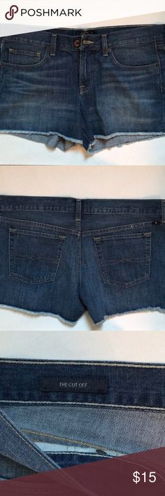 "Lucky Brand cut-off shorts Lucky Brand cut-off shorts.  Size: 8/29 Inseam: 3.25"" Lucky Brand Shorts Jean Shorts"