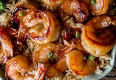 An easy shrimp recipe with a delicious garlic and honey sauce … - Recipes Easy & Healthy Shrimp Recipes Easy, Easy Healthy Recipes, Seafood Recipes, Easy Dinner Recipes, Vegetarian Recipes, Easy Meals, Cooking Recipes, Dinner Ideas, Honey Sauce