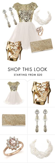 """""""District 1: Luxury"""" by madalynkw on Polyvore featuring GUESS, New Look, Oscar de la Renta, Bloomingdale's and Humble Chic"""