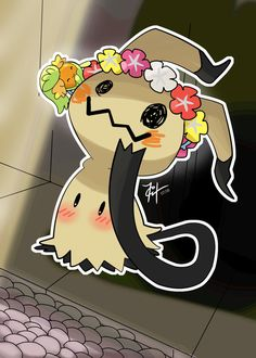 Mimikyu and Comfey, Fairy friends by HarlequinWaffles.deviantart.com on @DeviantArt