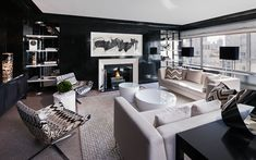 How to Decorate with Black Walls | Interior design trends for 2015 #interiordesignideas #trendsdesign For more inspirations: http://www.bykoket.com/inspirations/category/interior-and-decor