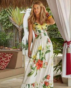 Best Summer Fashion Part 10 Floral Fashion, Boho Fashion, Vintage Fashion, Fashion Looks, Estilo Fashion, Mode Outfits, Dress Outfits, Casual Dresses, Fashion Dresses