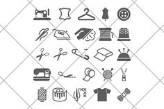 sew icons by Kurokstas on Creative Market