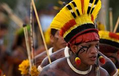 Native Brazilians of the Amazon rainforest.  http://www.telegraph.co.uk/earth/earthpicturegalleries/6501057/The-Indigenous-Nations-Games-in-Brazil-Amazon-Indians-compete-in-sporting-events.html?image=11#