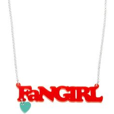 Fangirl Necklace ($26) ❤ liked on Polyvore featuring jewelry, necklaces, cocktail jewelry, holiday jewelry, evening jewelry and special occasion jewelry
