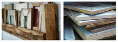 From demolition sites to our walls... Rustic frames