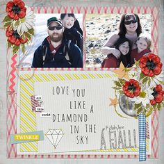 I used Angelclaud ArtRoom's fab August Challenge Template as well as Lauren Reid's amazing new collab with Valorie Wibbens, Twinkle ~ available as a bundle or as seperate packs in her studio at Scrapbook Graphics.   I also used a couple of elements from ViVa Artistry's Confucius Says and Natali's Goodbye Summer and P.S. I Love You. One flower is from Lauren Reid's Call Me. Everything available at Scrapbook Graphics.