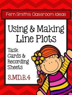 Using and Making Line Plots Task Cards, Recording Sheets and Answer Keys for 3.MD.B4  #TPT $paid