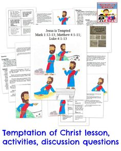 Jesus Tempted In The Desert Coloring Page Activity Matthew Mark And Luke Lessons See More 41 11 112 13 4