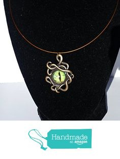 Green Eye Dragon Charmed Wire Choker Necklace from DonkeyandtheUnicorn http://www.amazon.com/dp/B018FDW9SY/ref=hnd_sw_r_pi_awdo_gJzPwb0HNWMVH #handmadeatamazon