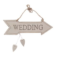 White Wedding Sign, £2.75