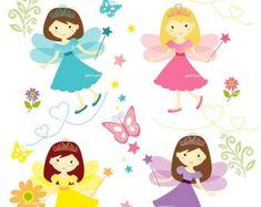 EN venta niña clip art  hadas lindo clip arte clip por petittatti