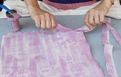 cortando tela para flecos www.sracricket.com