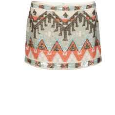 Aztec Skirt ($210) ❤ liked on Polyvore featuring skirts, mini skirts, bottoms, saias, apparel femen party, tribal print mini skirt, short skirts, aztec mini skirt, short mini skirts and mini skirt