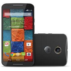 """Smartphone Motorola Moto X (2º Geração) Preto XT1097, Android 4.4.4, Câmera 13MP, Frontal 2MP,  Tela 5.2"""", Quad-Core 2.5 GHz, 32GB de Memória, 3G/4G"""