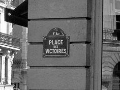 Paris - plaque de rue - place des victoires