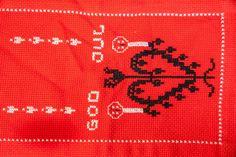 Vintage Norwegian Hand Embroidered God Jul Christmas Table Runner Hearts Norway Table Runners, Norway, Vintage Items, My Etsy Shop, Hearts, Christmas, Xmas, Navidad, Noel