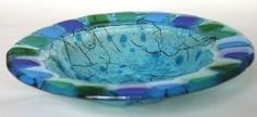 """Fused glass bowl--9""""--that would look awesome in my home."""