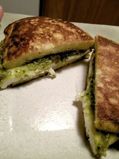 coconut flour flatbread grilled cheese