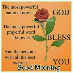 Floral God Bless You Quote For A Good Morning