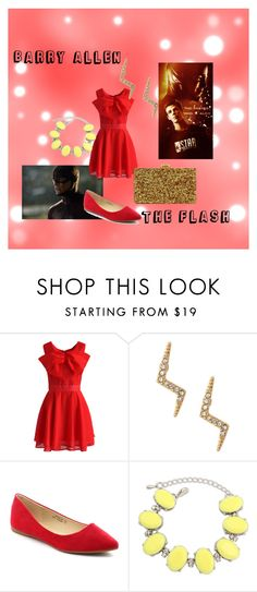 """""""The Flash - Barry Allen"""" by fangindiegirl on Polyvore featuring Chicwish, Stella & Dot, Bella Marie, Ruby Rocks, Edie Parker, women's clothing, women, female, woman and misses"""