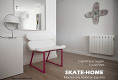 Skateboard Hall.  Armchair and clock. skate house. your home, your style