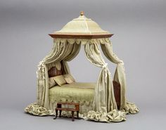 Sumptuous Bed by June Clinkscales - 1:12 Scale - OOAK