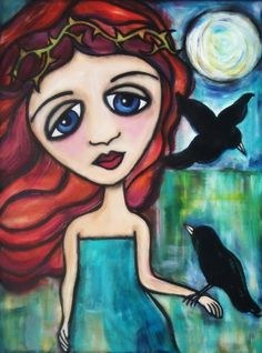 Little Raven Limited Edition 8 x 10 PRINT of by maryclairestudios, $20.00