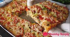 Domáca pizza lenivej ženy: Žiadne hnetenie, cesto stačí naliať, obložiť na jednom plechu a naje sa celá rodina! - Mňamky-Recepty.sk