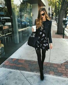 35 Brilliant Stockings Outfits Ideas to Your Casual Style Inspiration. winter strumpfhose 35 Brilliant Stockings Outfits Ideas to Your Casual Style Inspiration - PDB Trending Mode Outfits, Fall Outfits, Casual Outfits, Fashion Outfits, Fall Dresses, Winter Dresses For Work, Best Leather Jackets, Leather Jacket Outfits, Dress With Stockings