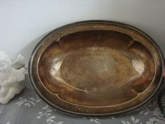 vintage Forbes oval Tarnished silver plate by pureblisscottage