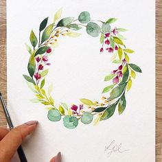 "Lydia and Design © op Instagram: ""Wreath Commission II - this is a leafy one, can anyone guess which past commission this wreath was inspired…"""