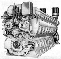 GMs magnificent EMD 645 2 stroke locomotive engine (1965, derived from a 1947…