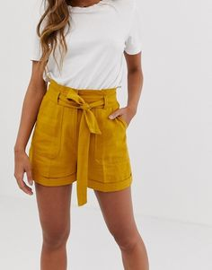 Order ASOS DESIGN linen tie waist shorts online today at ASOS for fast delivery, multiple payment options and hassle-free returns (Ts&Cs apply). Get the latest trends with ASOS. Tie Waist Shorts, Fashion Online, Fitness Models, Online Shopping, Casual Shorts, Short Dresses, Asos, Maternity, Design