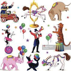 Vector Art : circus characters