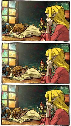 The Legend of Zelda: Skyward Sword, Link & Zelda: Awww The Legend Of Zelda, Legend Of Zelda Memes, Legend Of Zelda Breath, Link Zelda, Zelda Skyward, Skyward Sword Link, Otaku Anime, Manga Anime, Fan Art