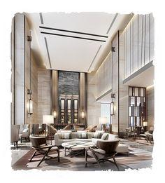 CCD-重庆万豪酒店公共区域新版室内设计...