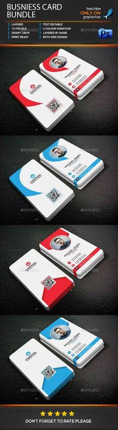 #Business Card Bundle - Business Cards Print Templates Download Here:     https://graphicriver.net/item/business-card-bundle/18528949?ref=suz_562geid