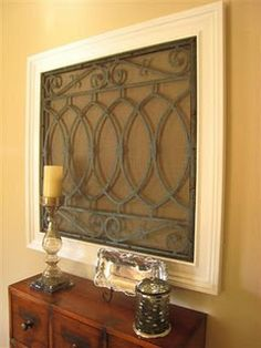 made from an old fireplace screen
