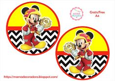 Mamá Decoradora: Kit Imprimible Mickey Sobre Ruedas Gratis Mickey Mouse Parties, Mickey Party, Mickey Mouse Birthday, 3rd Birthday, Lion Party, Bolo Mickey, Topper, First Birthdays, Party Themes