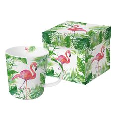 Tropical Flamingo Trend Mug #tropical #flamingo #trendmug #mug #tasse #leaves #summer #somemr #blätter #pink #ppd #paperproductsdesign