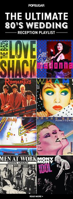 The Ultimate '80s Wedding Reception Playlist