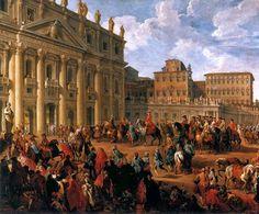 Llegada de Carlos III de España a la Basílica de San Pedro de Roma, por Giovanni Paolo Panini.