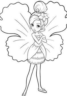 Little Barbie Thumbelina Coloring Pages